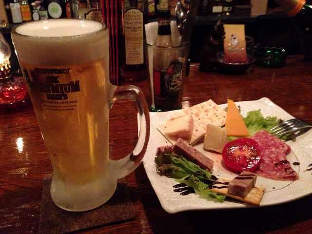 チェイサー替わりにビール.jpg