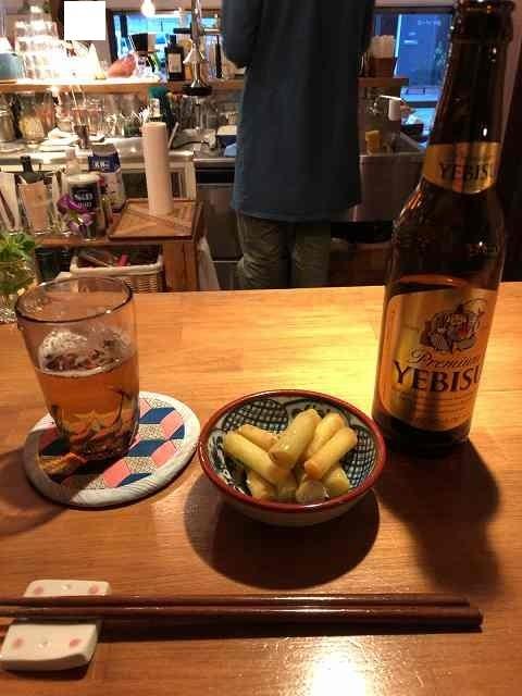 ビールとふき.jpg