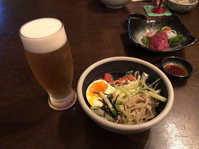 蕎麦サラダ5生ビール小.jpg